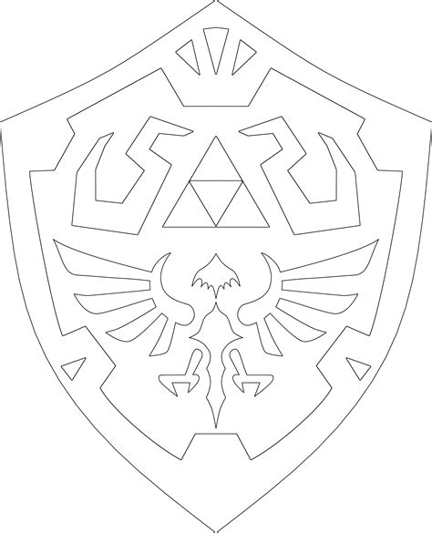 Hylian Shield Outline by 1000 Images About A Wing On The Legend Of And Legends