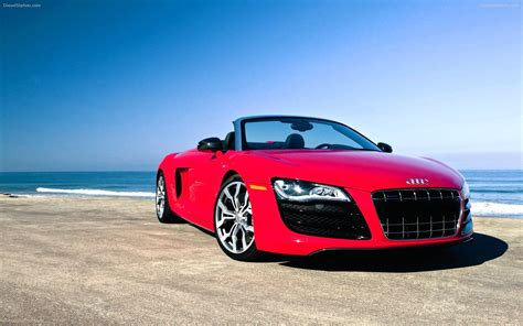 red audi r8 wallpaper red audi r8 gt in beach car wallpapers hd famous all cars