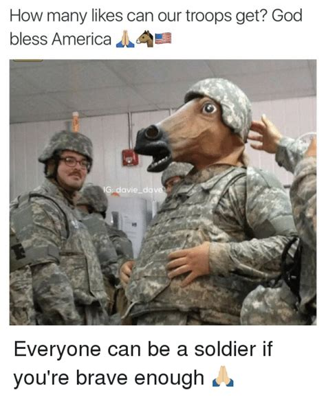 how can a woman get how many likes can our troops get god bless america g