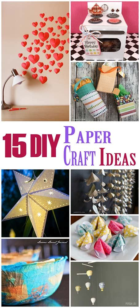 Diy Crafts Paper - 15 diy paper craft ideas the craftiest