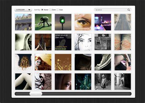 javascript gallery layout free psd web ui elements 6 best ui psd ui design