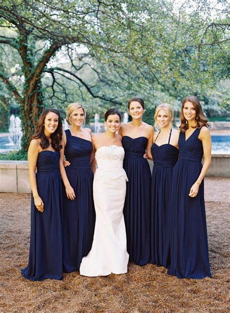 Navy Bridesmaid Dress by Best 25 Navy Blue Bridesmaids Ideas On Blue