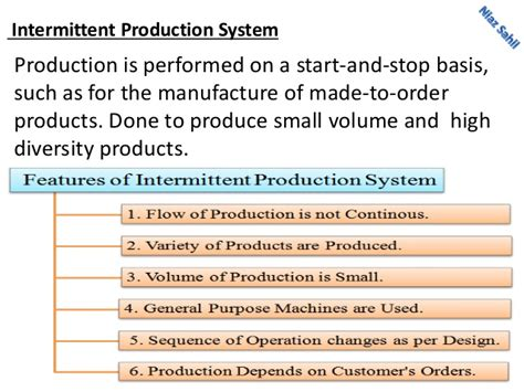 Types Of Production System Mba by Continuous Production Process Exle Essay