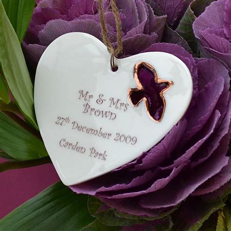 Personalised Engagement Decorations by Personalised Wedding Gift Decoration By Carys Boyle