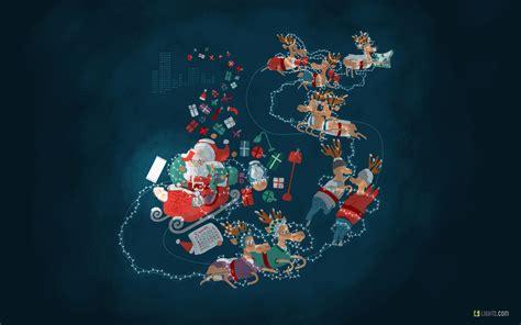 wallpaper santa claus lights december reindeers hd celebrations  wallpaper