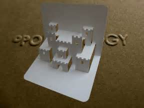 pop up castle card tutorial origamic architecture youtube