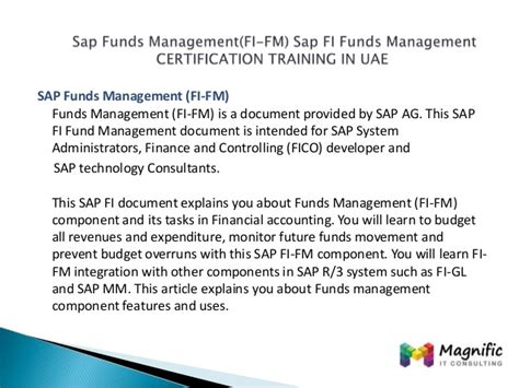 sap controlling focuses on sap fico certification sap fico books sap funds management fi fm sap fi funds management