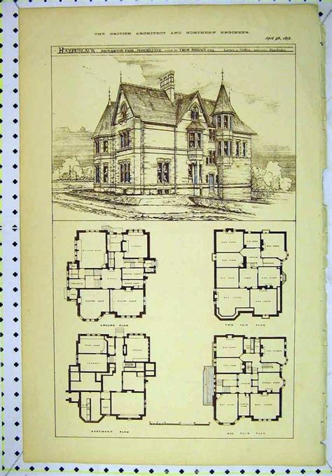 Historic Homes Floor Plans | vintage victorian house plans classic victorian home
