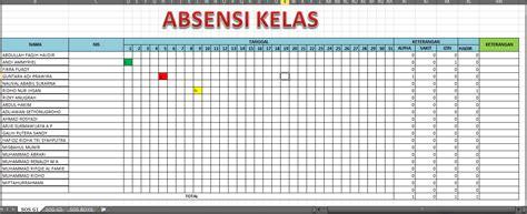 membuat database absensi dengan excel cara membuat absensi otomatis dengan excel 2007 geograph88
