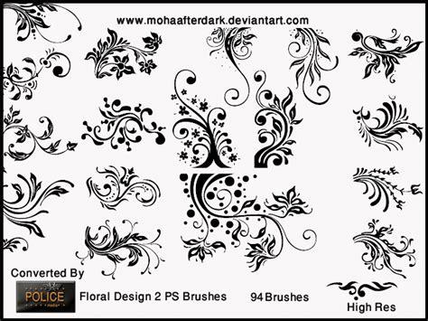floral pattern brush photoshop floral design 2 decorative photoshop brushes