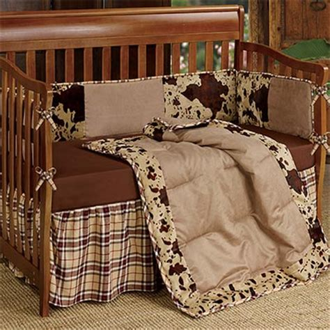 western cowhide crib bedding collection