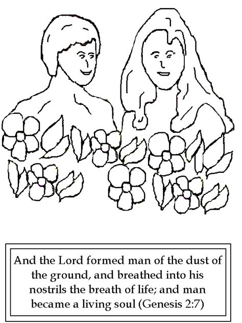 Genesis 3 Coloring Page by Free Coloring Pages Of God Created