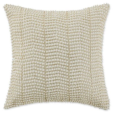 waterford pearl pillow ornament waterford 174 linens britt pearl throw pillow in gold bed bath beyond