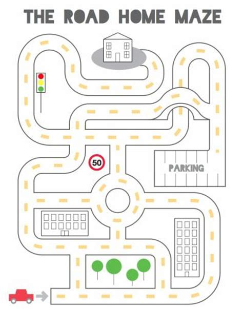 Road Day Preschool by Road Home Maze Lovetoteach Org Free Printable Worksheets
