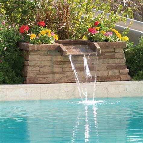 pool fountains for inground pools 17 best ideas about pool waterfall on pinterest outdoor