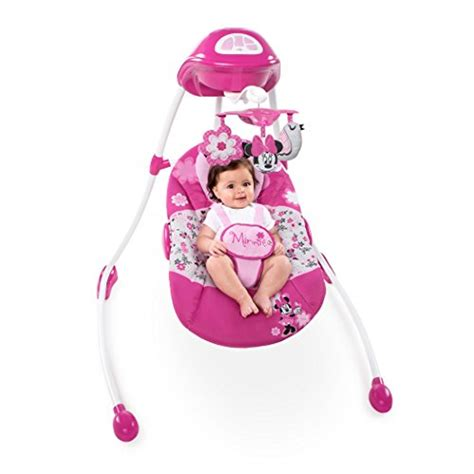 graco minnie mouse swing disney minnie mouse garden delights swing baby shop