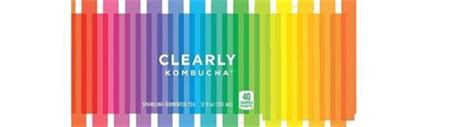 clearly kombucha sparkling fermented tea12 fl oz 355 ml