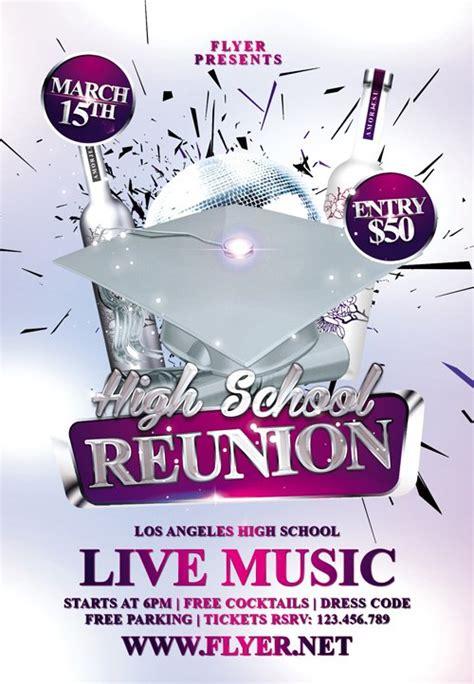 Premium Flyer Template High School Reunion 187 Herogfx Graphic Design Reunion Flyer Template Free