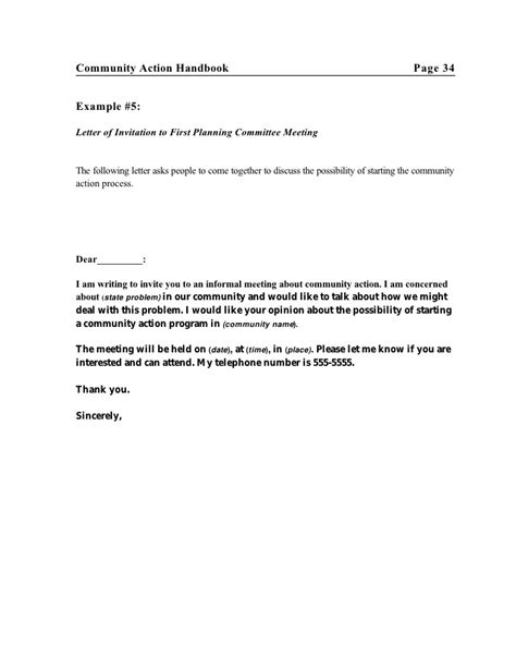 Sle Invitation Letter For Committee Meeting Communityaction Hndbk