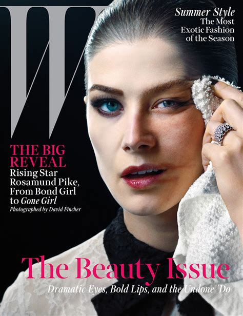 Magazine Makeover by Rosamund Pike For W Magazine Issue