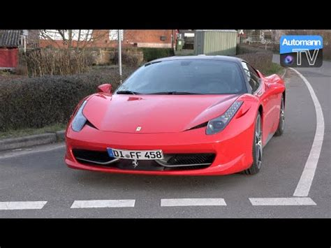 How To Drive A Ferrari 458 by Ferrari 458 Italia 570hp Drive Sound 60fps Youtube