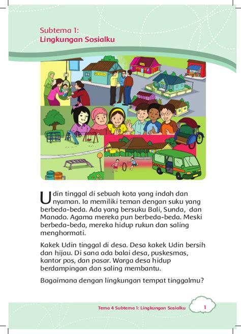 Buku Terlaris Masalah Sosial Anak peduli lingkungan sosial buku siswa kelas 3 tema 4