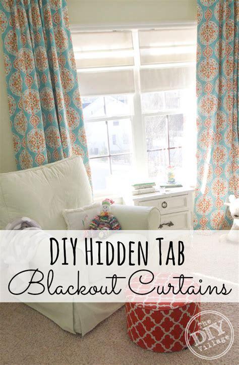 tab curtains diy diy hidden tab curtains with blackout fabric sleep