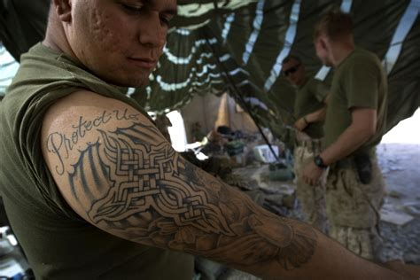 marine corps tattoo policy us marines policy 2016 and regulations