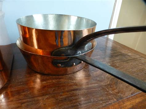 magnificent set of re tinned copper pans pots at 1stdibs