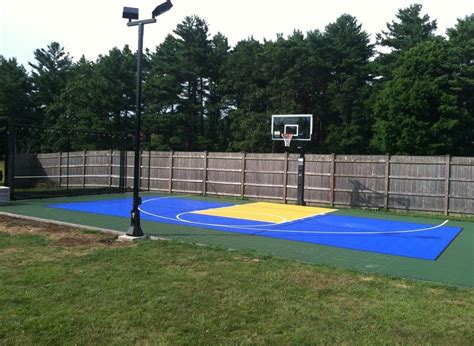Outdoor Sport Court Lighting Boston Backyard Basketball Court Landscape Traditional With Ideas Wooden Adirondack Chairs Foxboro