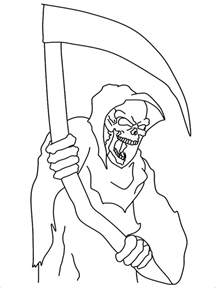 99 printable cartoon coloring pages grim reaper