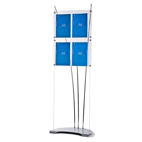 Acrylic Display Brosur a4 brochure stand free standing acrylic literature stands