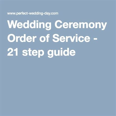 Wedding Ceremony Order by Wedding Ceremony Order Of Service 21 Step Guide