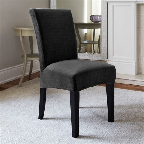dining room chair slip cover short dining room chair slipcovers dark gray dining room