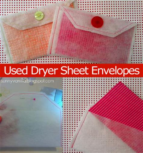 How To Make An Envelope From A Sheet Of Paper - make a recycled dryer sheet envelope