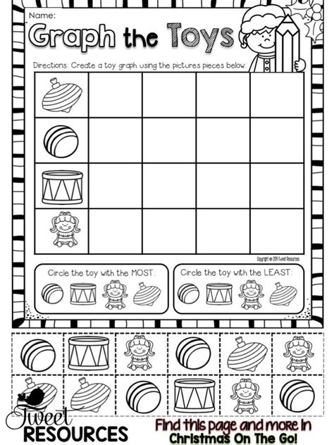 printable christmas graphs christmas activities for kindergarten math and literacy