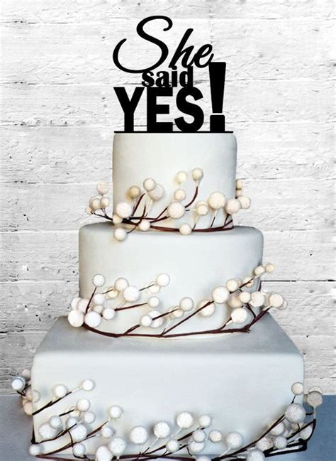 yes kuchen she said yes cake topper