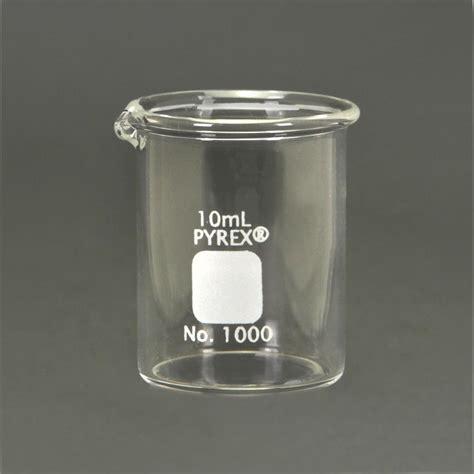 Beaker Glass 10 Ml pyrex 174 glass griffin beaker low form measuring 10 ml