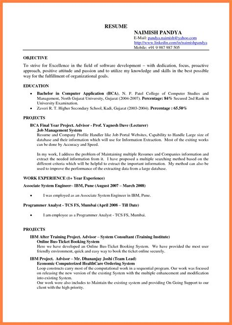 resume format for free docs resume template sle resume cover letter format