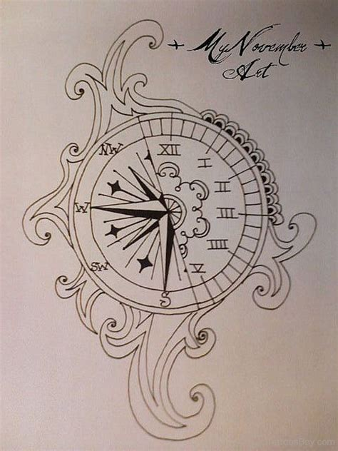 pretty tattoo design clock tattoos designs pictures page 14
