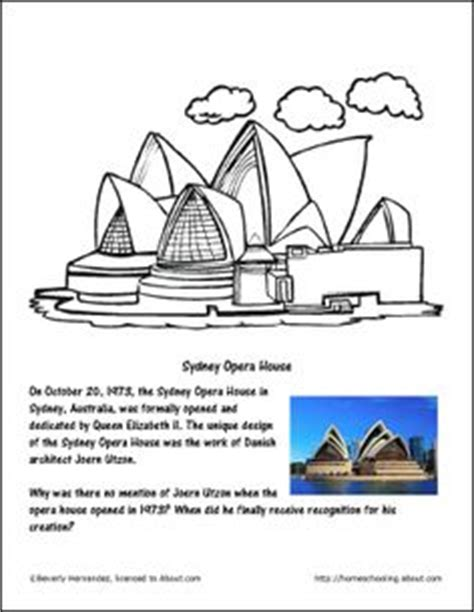coloring page of sydney opera house 1000 images about childrens choir on pinterest