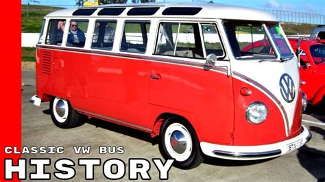 volkswagen old red classic vw bus history explained youtube