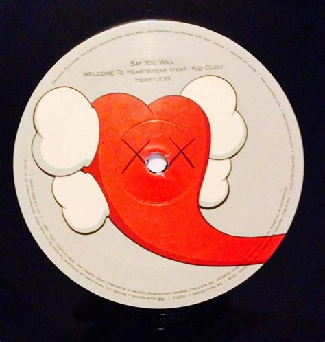 808s And Heartbreak Vinyl by Kaws Kanye West 808s And Heartbreak Pressing
