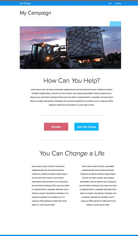 the nonprofit microsite what why how best practices