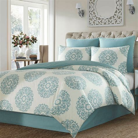 medallion bedding bristol aqua medallion comforter bedding