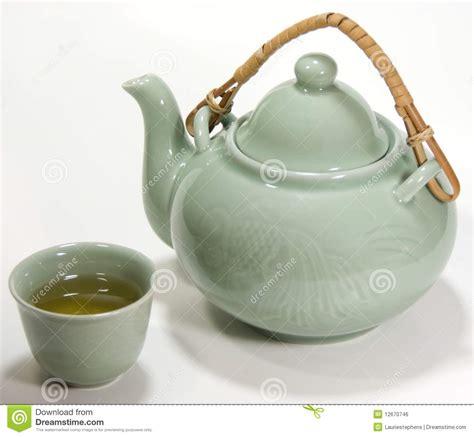 Set Greentea by Asian Tea Set With Green Tea Stock Photo Image 12670746