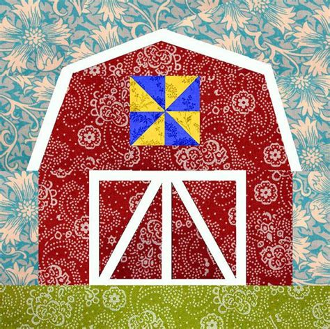 Piecing Quilts by Barn Paper Pieced Quilt Block Pattern Pdf