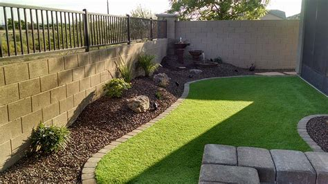 Concrete Patio Ideas For Small Backyards Small Backyard Landscaping Az Living Landscape Amp Design
