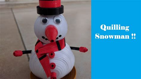 How To Make A 3d Snowman Out Of Paper - how to make 3d miniature quilling snowman tutorial diy