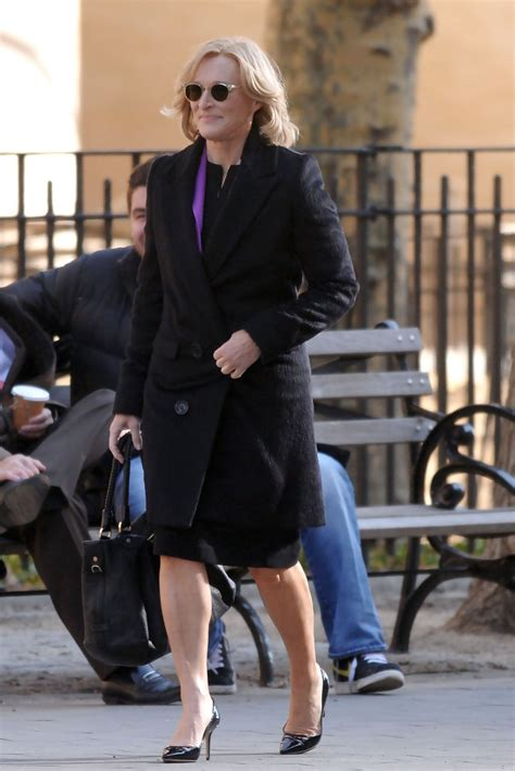 Glenn Gets Damages On by Glenn On Set Of Quot Damages Quot In New York City Zimbio